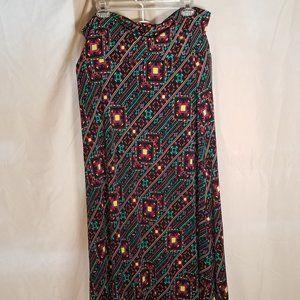 LuLaRoe Maxi Skirt Aztec Design 2X EUC